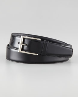 Prada Spazzolato Leather Dress Belt