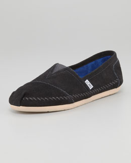 TOMS Suede Slip-On, Black