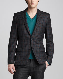 Versace Collection Plaid Blazer