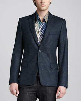 Versace Collection Flecked Blazer