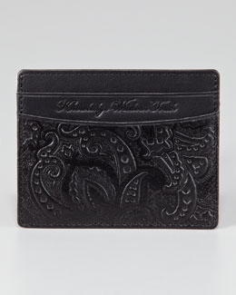 Robert Graham Paisley-Embossed Leather Credit Card Case