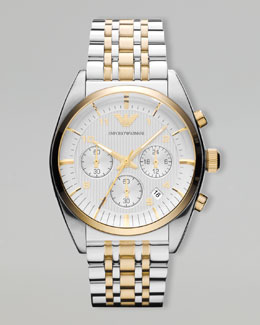 Emporio Armani Two-Tone Classic Chronograph Watch