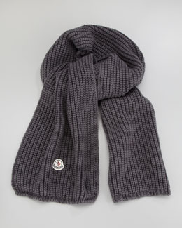 Moncler Washed Cable-Knit Scarf