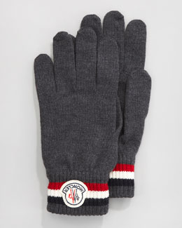 Moncler Flag-Trim Gloves