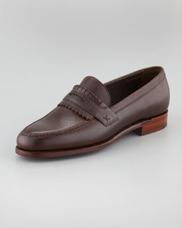 Barker Black Skirted Loafer, Cordovan