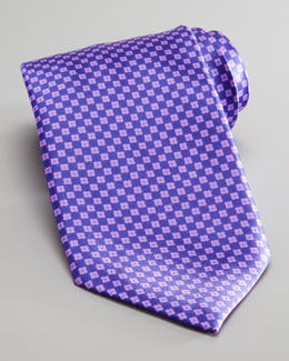 Stefano Ricci Mini Squares Silk Tie, Purple