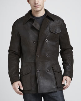 UGG Australia Bolton Double-Breasted Shearling Coat
