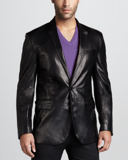 Ralph Lauren Black Label Anthony Leather Sport Coat