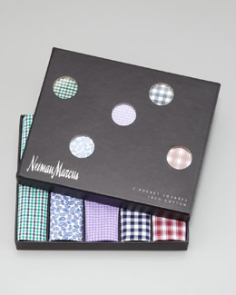 Neiman Marcus Pocket Squares Five-Piece Set