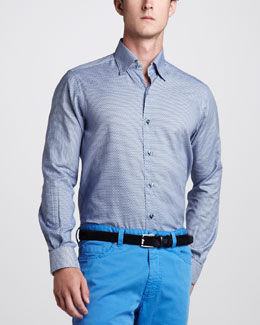 Ermenegildo Zegna Geometric Button-Down Shirt