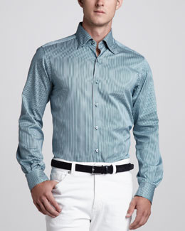 Ermenegildo Zegna Striped Sport Shirt