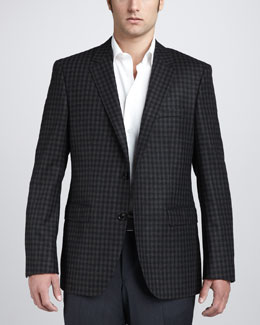 Hugo Boss Check Blazer, Green