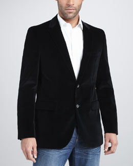 Hugo Boss Velvet Blazer, Black