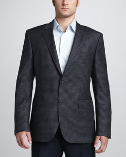 Hugo Boss Elbow-Patch Check Sport Coat