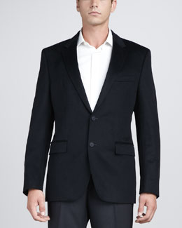 Hugo Boss Cashmere-Silk Blazer, Navy