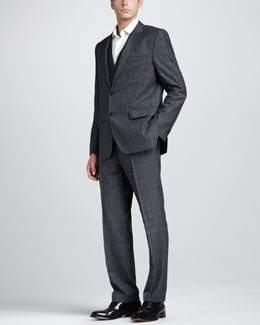 Hugo Boss Three-Piece Plaid Suit