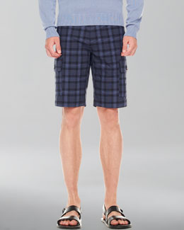 Michael Kors Check Cargo Shorts