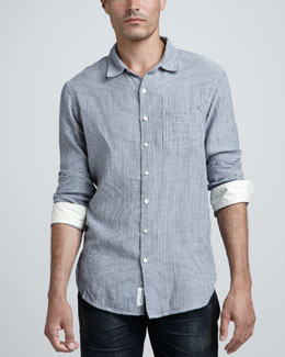 Rag & Bone Beach Striped Sport Shirt