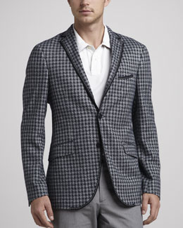 Etro Check Knit Sport Coat