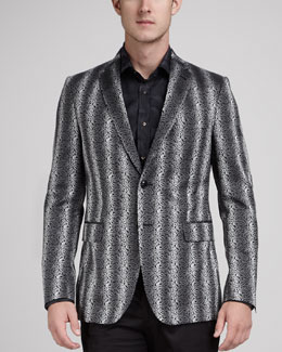 Etro Paisley-Stripe Evening Jacket