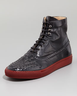 Alexander McQueen Riveted High-Top Sneaker