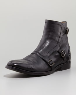 Alexander McQueen Three-Buckle Rivet Boot