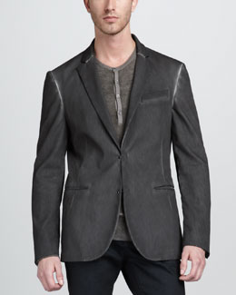 John Varvatos Hook-and-Bar Jacket