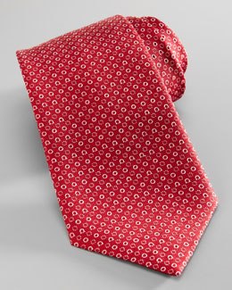 Salvatore Ferragamo Gancini & Circle Tie, Red