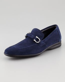 Salvatore Ferragamo Tangeri Suede Loafer, Royal