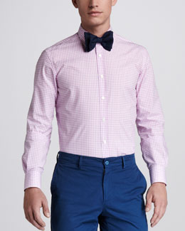Lanvin Gingham Button-Down Shirt