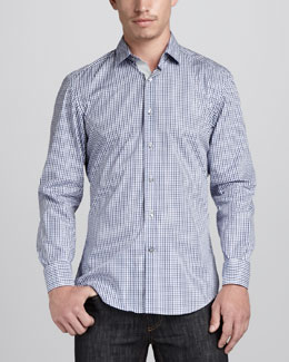 Lanvin Check Sport Shirt