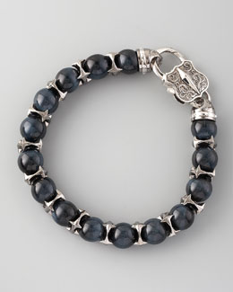 Stephen Webster Blue Tiger's Eye Bead Bracelet, 10mm
