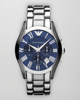 Emporio Armani Classic Chronograph Watch, Blue