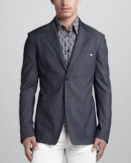 Versace Collection Stretch-Cotton Blazer