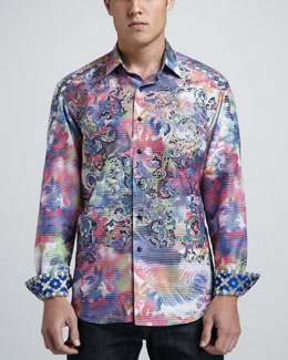 Robert Graham Limited Edition Laser Art Sport Shirt