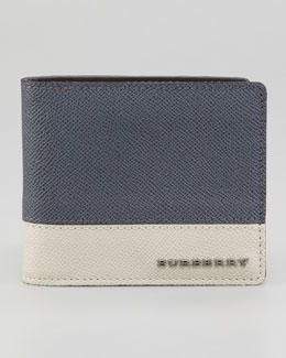Burberry Tricolor Leather Wallet