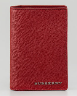 Burberry Leather Passport Cover, Cherry