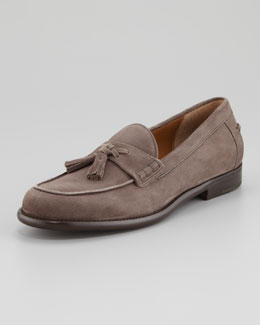 Salvatore Ferragamo Treviso Tassel Loafer, Gray