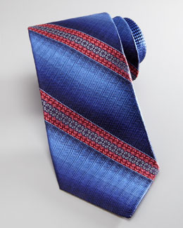 Robert Graham Ombre-Striped Tie, Blue/Pink