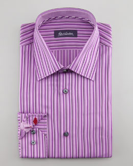 Robert Graham Daly Striped Dress Shirt, Purple