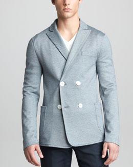 Giorgio Armani Double-Breasted Jersey Jacket