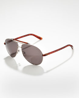 Tom Ford Bradley Metal Aviator Sunglasses