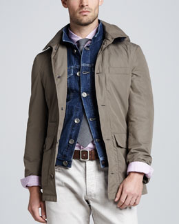 Brunello Cucinelli Short Safari Rain Coat