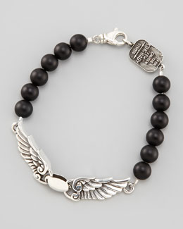 King Baby Studio Black Onyx Wing Bracelet