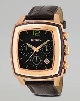 Breil Orchestra Embossed-Strap Watch, Rose Gold
