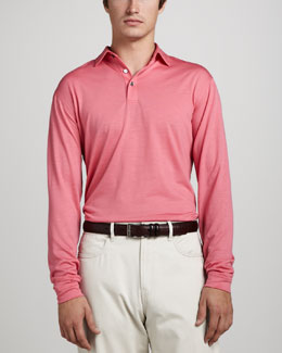 Peter Millar Dublin Merino Polo Sweater, Dogwood