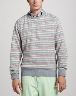 Peter Millar Striped Raglan Sweater