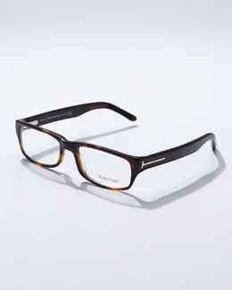 Tom Ford Small Havana Square Frame Fashion Glasses