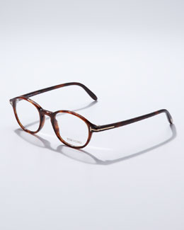 Tom Ford Round-Frame Fashion Glasses, Havana