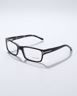 Tom Ford Square Frame Fashion Glasses, Black
